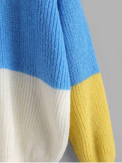 ZAFUL Pull Pull en vrac à blocs de couleurs - Multi-B Taille Unique Mobile