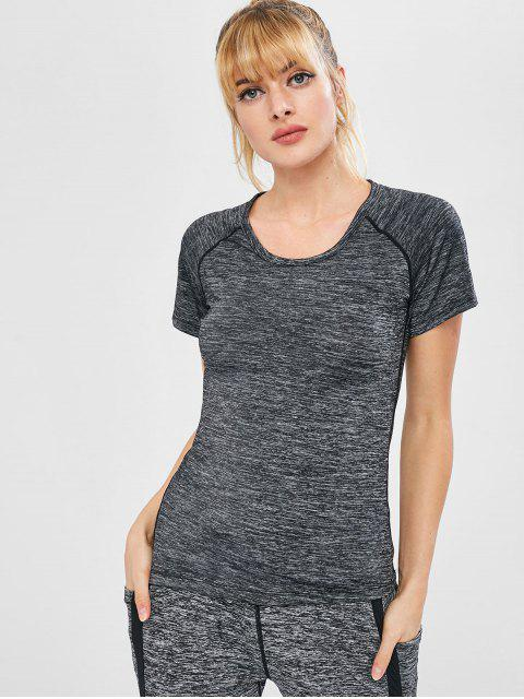 hot Space Dye Heathered Sport Tee - GRAY M Mobile