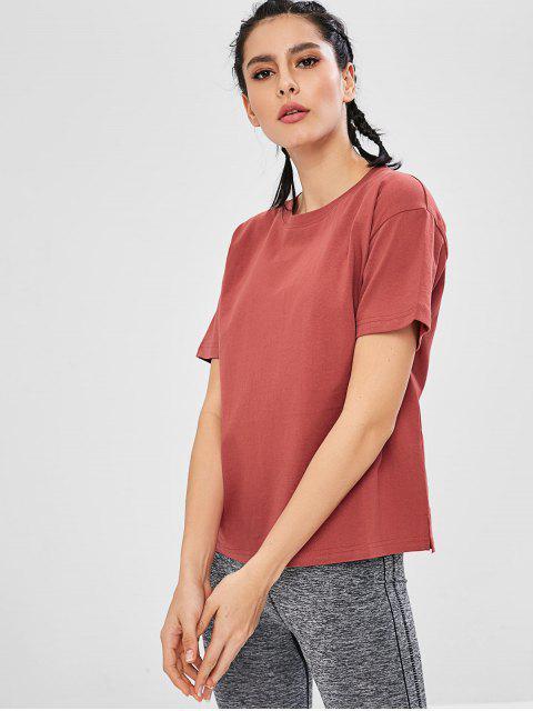Kurzärmliges, lockeres T-Shirt - Rot L Mobile