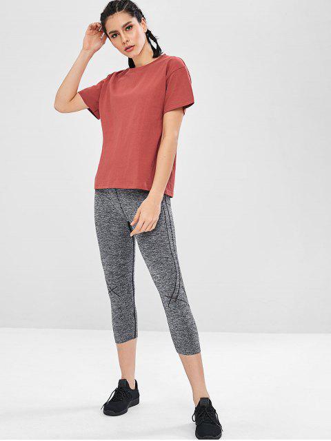 Kurzärmliges, lockeres T-Shirt - Rot XL Mobile