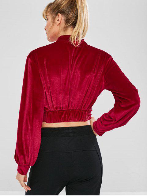 Samt zugeschnittenes Sport-Sweatshirt - Roter Wein L Mobile