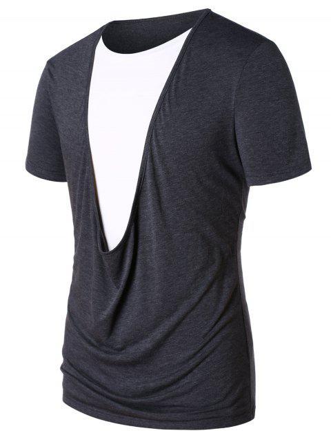 T-Shirt De Manga Longa Com Bloco De Cor Twinset - Cinzento XL Mobile