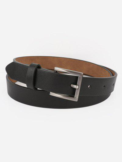 5a4f9c40124 Casual Metal Buckle Artificial Leather Belt - Black ...