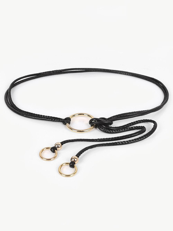 Hollow Out Ring Adjustable Dress Belt