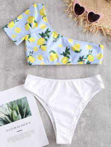 ZAFUL ليمون واحد كتف واحد قطعة ملابس السباحة - أبيض M