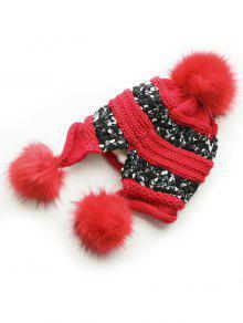 16e16607074fcf 28% OFF] 2019 Winter Fuzzy Ball Decorative Warm Hat In RED | ZAFUL ...