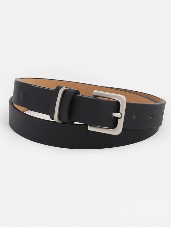 unique Artificial Leather Metal Buckle Belt - BLACK