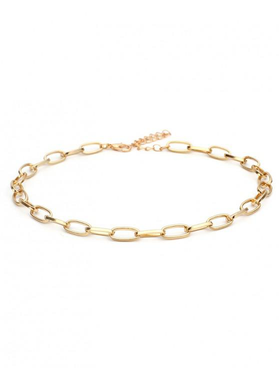 fashion Alloy Lock Chain Design Necklace - GOLD