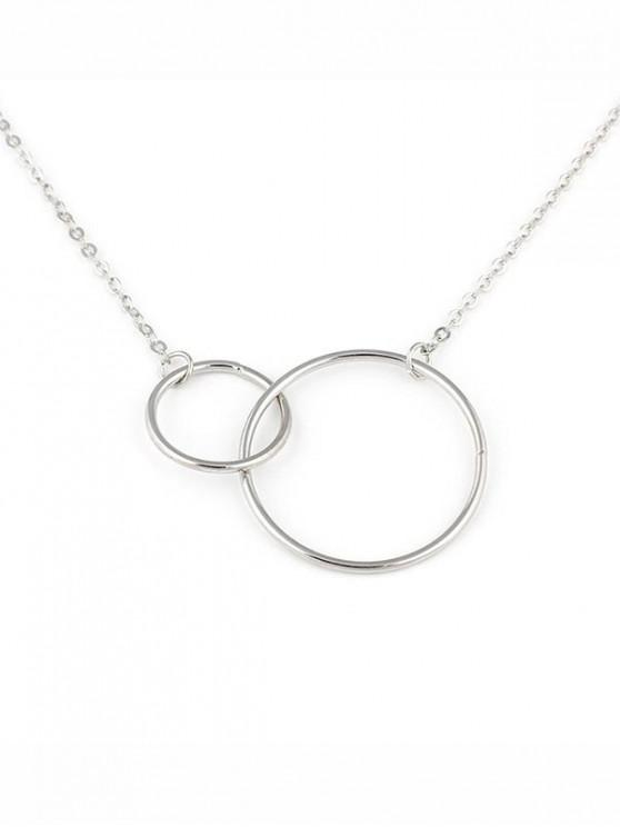 best Geometric Double Hoops Design Necklace - SILVER