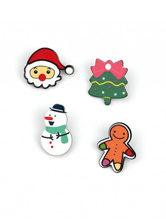outfit 4Pcs Christmas Tree Pattern Brooches Set - MULTI-A