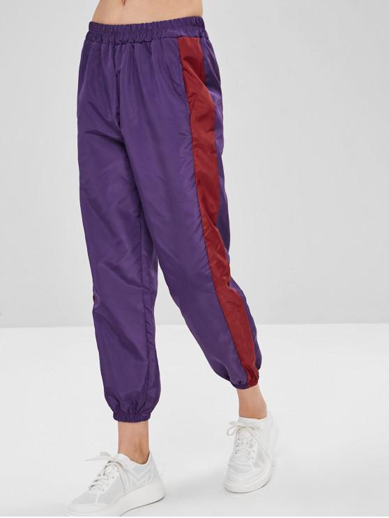 لون كتلة جيب جيب سترة واقية - متعددة-A L