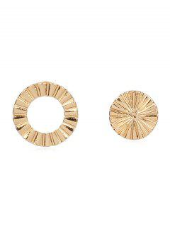Statement Round Shape Hollow Stud Earrings - Gold
