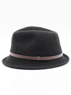 Ribbon Solid Color Jazz Hat - Black