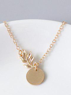 Round Shape And Flower Pattern Bracelet - Gold