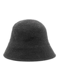 Vintage Curved Brim Bucket Hat - Black