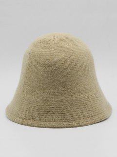 Vintage Curved Brim Bucket Hat - Light Khaki