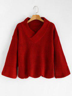 Bell - Pullover Mit V-Ausschnitt - Rot