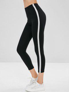 Skinny Color Block Ninth Leggings - Black M