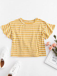 Camiseta Con Cordones De Rayas - Amarilla De Abeja  M