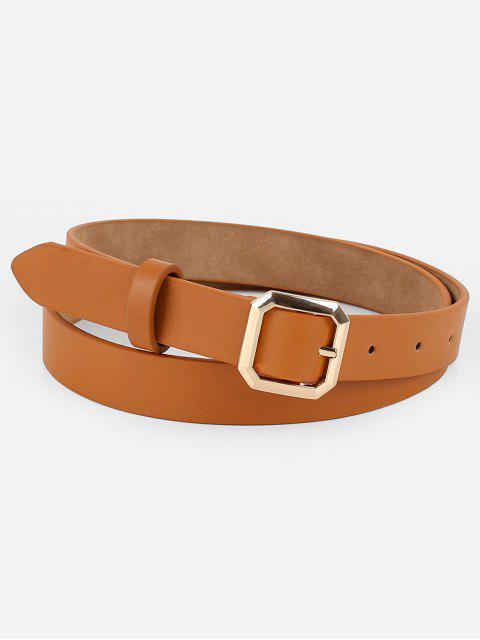 unique Geometry Buckle Artificial Leather Belt - TIGER ORANGE  Mobile