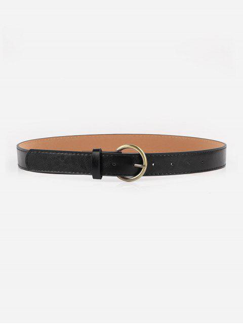 Cintura in Pelle Sintetica a Vita Elastica con Fibbia Dorata - Nero  Mobile