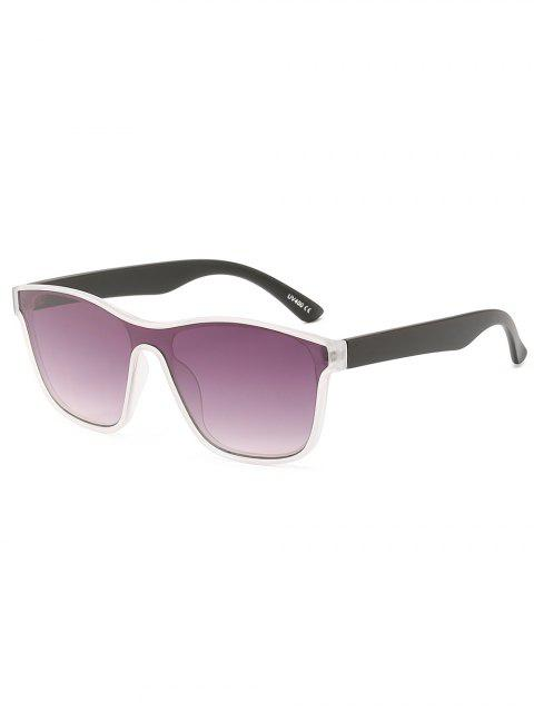women Anti UV Full Frame Flat Lens Beach Sunglasses - PURPLE FLOWER  Mobile