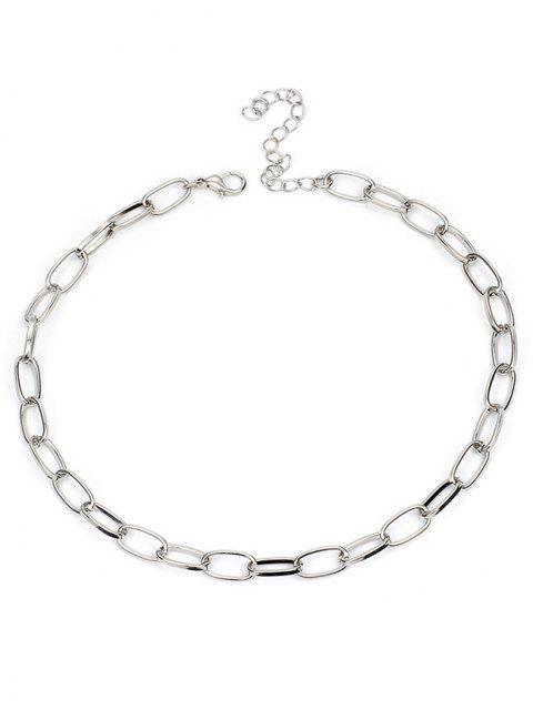 women Alloy Lock Chain Design Necklace - SILVER  Mobile