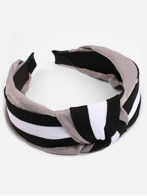 new Cute Striped Pattern Hairband - GRAY  Mobile