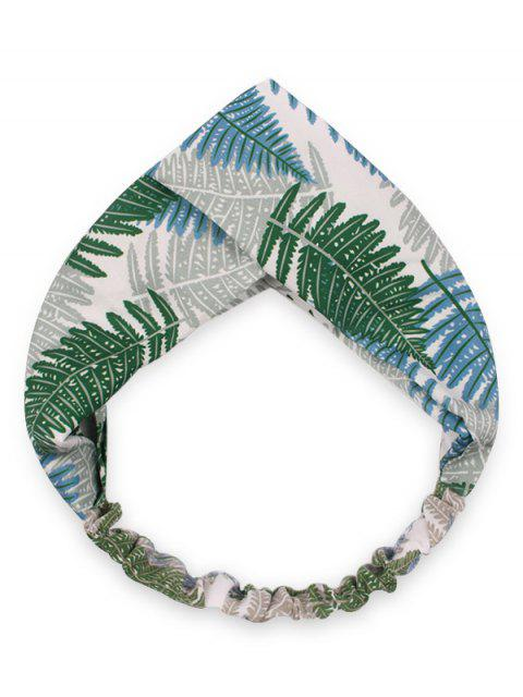 outfit Crossover Leaf Print Hair Band - CLOVER GREEN  Mobile