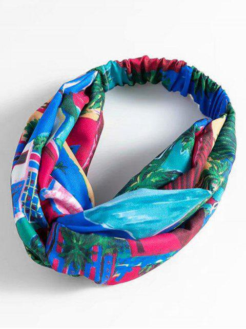 trendy Fashion Plant Polyester Hair Band - MULTI  Mobile