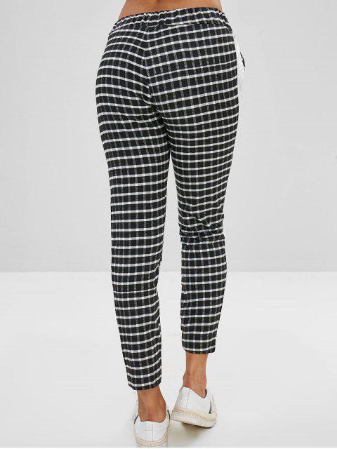 outfits Plaid Casual Pencil Pants - MULTI-A S Mobile