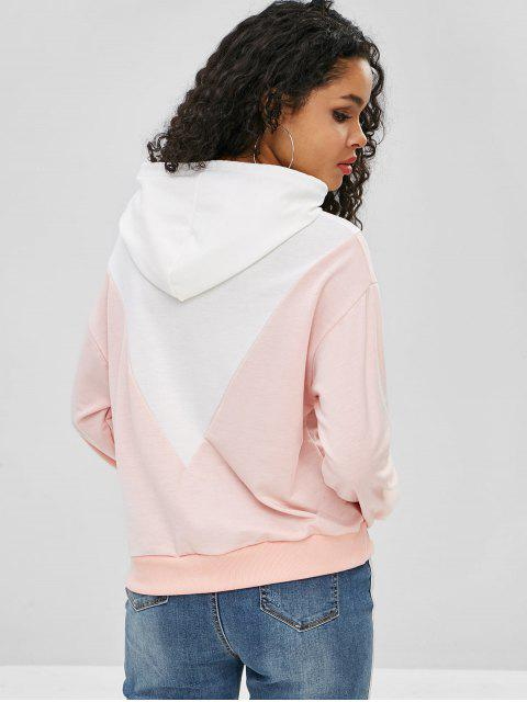 Sweat à capuche avec blocs de couleurs - Cerisier Rose M Mobile