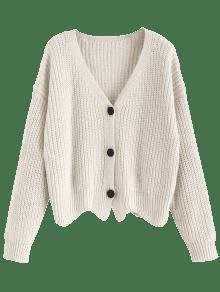 54% OFF  2019 Scalloped Chunky Cardigan In WHITE ONE SIZE  e6e683fe8
