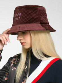 24% OFF  2019 SAYING WHAT Embroidery Bucket Hat In RED WINE  5018a977109e