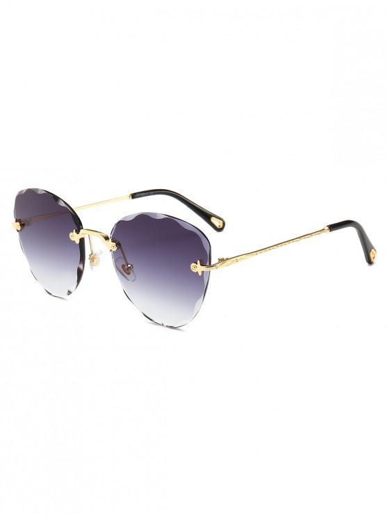trendy Anti UV Cut Edge Rimless Sunglasses - GRAY