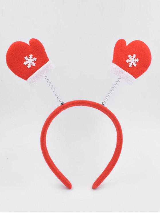 Christmas Gloves Novelty Hair Hoop - الحمم الحمراء