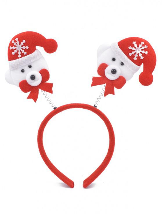 outfit Christmas Snowman Embellished Hair Hoop - LAVA RED
