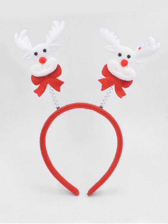 outfits Christmas Elk Hair Decorative Hair Hoop - LAVA RED