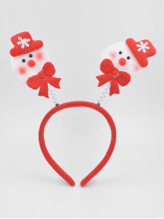 shop Christmas Snowman Hair Decorative Hair Hoop - LAVA RED