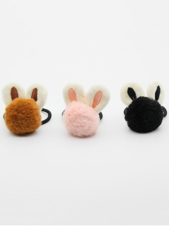 latest 3 Pcs Rabbit Ear Embellished Elastic Hairband - MULTI-B