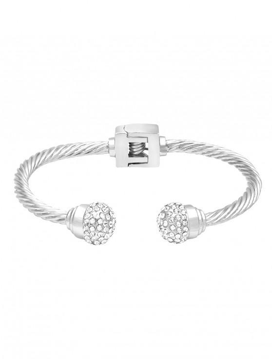 buy Faux Crystal Decorative Bracelet - SILVER