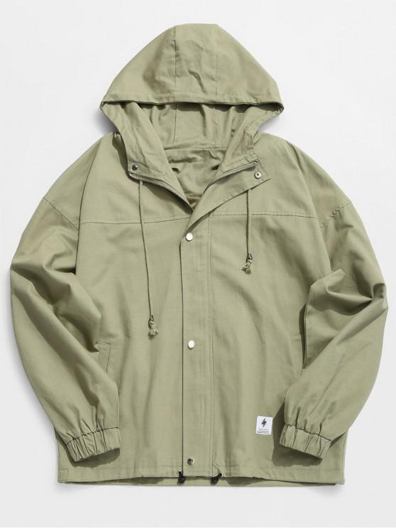 buy Solid Casual Loose Jacket - CAMOUFLAGE GREEN L
