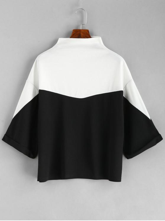 T shirt Lâche Chauve souris Bicolore BLACK GRAY GOOSE