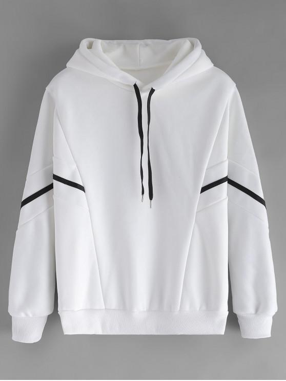 hot Batwing Sleeve Fleece Lined Hoodie - WHITE XL
