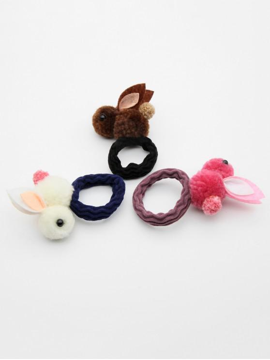 best 3 Pcs Cute Rabbit Elastic Hairband - MULTI-B