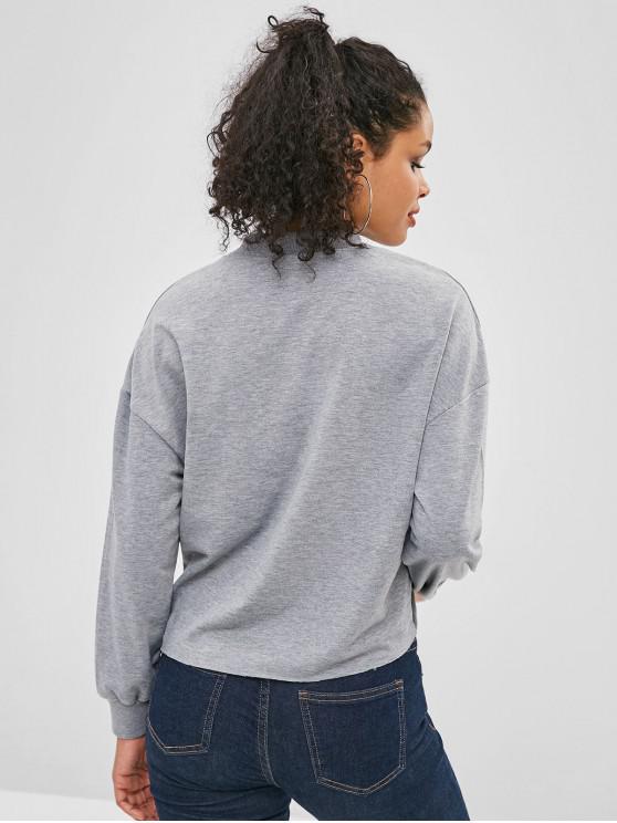 Sweat Graphique Epaule Gris À ValentinCuirassé Cœur S Goutte shirt Saint q5A3j4RL