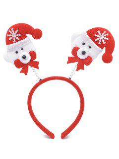 Christmas Snowman Embellished Hair Hoop - Lava Red