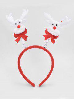 Christmas Elk Hair Decorative Hair Hoop - Lava Red