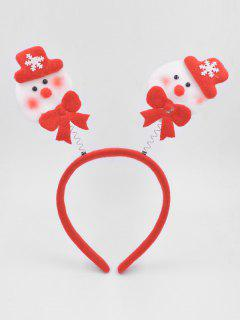 Christmas Snowman Hair Decorative Hair Hoop - Lava Red