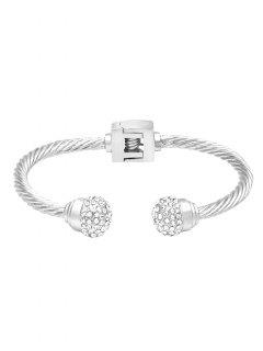 Faux Crystal Decorative Bracelet - Silver